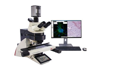 Leica Biosystems announces the introduction of the Aperio VERSA, a combination digital pathology research scanner for brightfield, fluorescence and FISH imaging at the American Association for Cancer Research (AACR) annual meeting in Philadelphia, opening April 18 and running until April 22, 2015. (PRNewsFoto/Leica Biosystems)