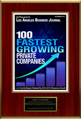 """IMPRES Technology Solutions, Inc. Selected For """"100 Fastest Growing Private Companies"""".  (PRNewsFoto/IMPRES Technology Solutions, Inc.)"""