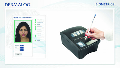 "DERMALOG presents: ""Interactive ICAO Face Check"" and ""Sign on Fingerprint Scanner"" module.  (PRNewsFoto/DERMALOG Identification Systems GmbH)"