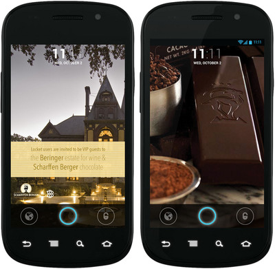 Locket Partners with Scharffen Berger Chocolate Maker to Bring Digital Marketing to Life on Android Lock Screens. (PRNewsFoto/Locket)