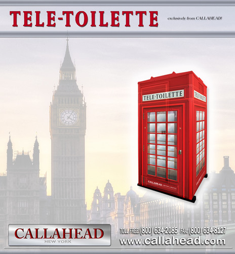 Tele-Toilette Portable Toilet by CALLAHEAD CORP. (PRNewsFoto/CALLAHEAD Corporation) (PRNewsFoto/)