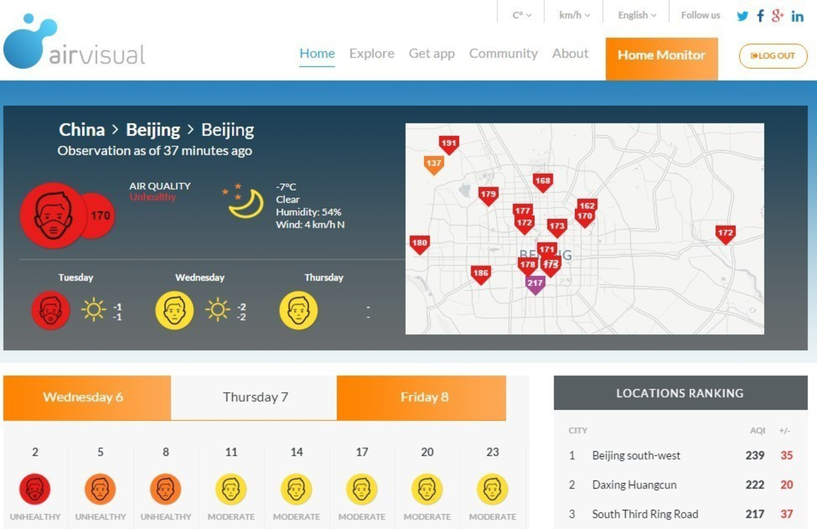 AirVisual Launches Free Air Pollution Forecasts for More than 5,000 Cities Worldwide