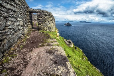 The Skellig Islands, Skellig Michael and Small Skellig, stand aloof in the Atlantic Ocean some 13km southwest of Valentia Island, County Kerry. (PRNewsFoto/Tourism Ireland) (PRNewsFoto/Tourism Ireland)