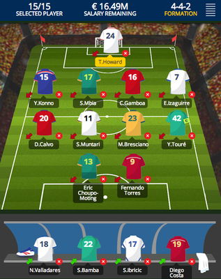 Select your team without exceeding the salary cap. (PRNewsFoto/Fantasygol.com)