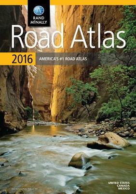 "The 2016 edition of the Rand McNally Road Atlas is now available, just in time for travel season. America's #1 Road Atlas is packed with upgrades, trip suggestions, and updated maps to help planners and travelers see ""the big picture."""