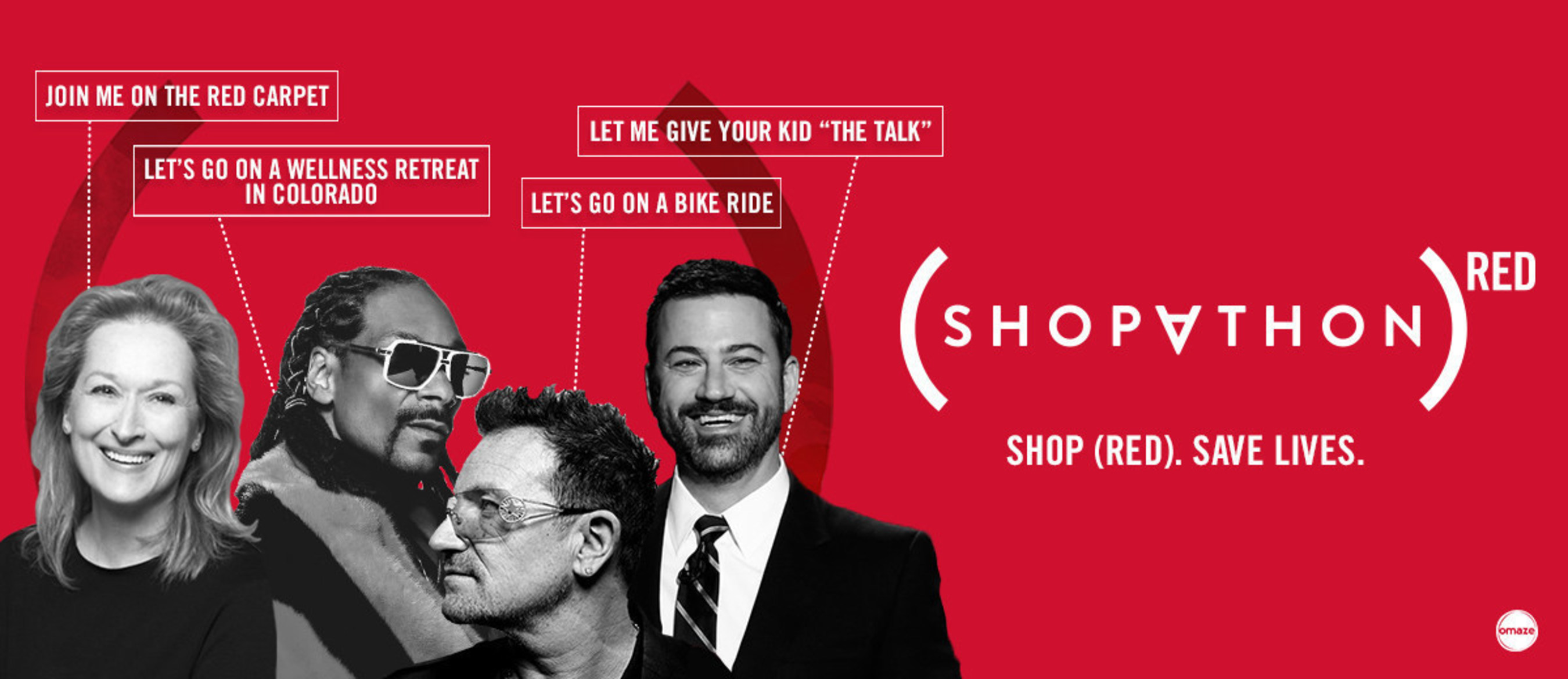 A Holiday Shopping Extravaganza To Fight AIDS, Co-Produced By (RED) & VICE Media; The First Ever (SHOPATHON)RED Launches On ABC's Jimmy Kimmel Live! On World AIDS Day, D
