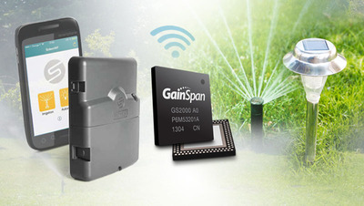 Solem selects GainSpan Wi-Fi for irrigation controller.  (PRNewsFoto/GainSpan Corporation)