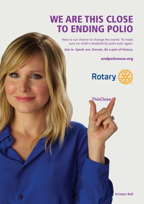 Kristen Bell supports Rotary