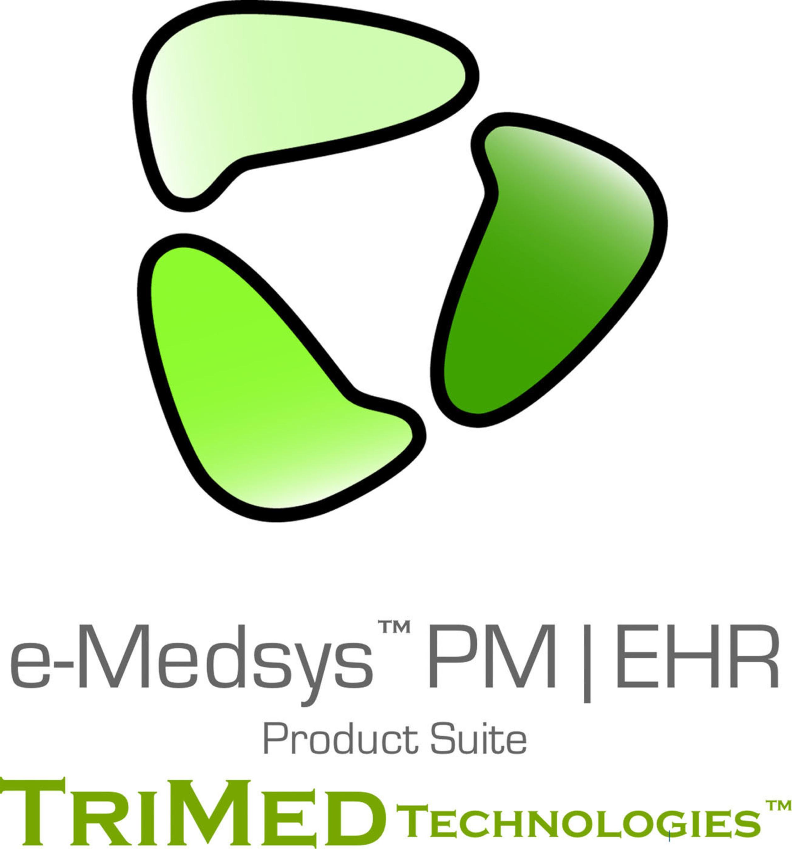 TriMed e-Medsys logo. (PRNewsFoto/TriMed Technologies) (PRNewsFoto/TRIMED TECHNOLOGIES)