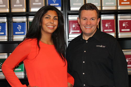 Manelle and Peter Martino, co-founders of Capital Teas, at their sixth store in Merrifield, Virginia, their first to include a full tea bar.  (PRNewsFoto/Capital Teas, Inc.)