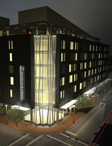 Hyatt Place Old Port at Night opening 2nd quarter 2014. (PRNewsFoto/Commonwealth Hotels, Inc.) ...