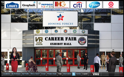 National Hire a Veteran and Military Spouse Day Virtual Career Fair.  (PRNewsFoto/Veteran Recruiting Services)