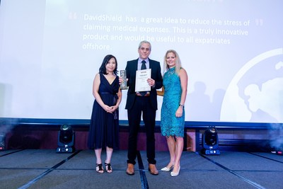 Ilan Gat, CEO, DavidShield, Accepts Winning Award for Most Innovative Use of Technology in Global Mobility at the Forum of Expatriate Management APAC Summit 2016