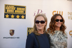 Meryl Streep and Julia Roberts attend the 19th annual Critics' Choice Movie Awards presented by Porsche at The Barker Hangar in Santa Monica on Thursday, Jan. 16, 2014. (PRNewsFoto/Porsche Cars North America, Inc.) (PRNewsFoto/PORSCHE CARS NORTH AMERICA, INC.)