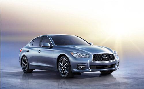 Deliveries of the much-anticipated 2014 Infiniti Q50 luxury sports sedan will begin on Monday, Aug. 5, at Infiniti retailers nationwide. The dramatic new Q50 features distinctive design, engaging performance, world's first technologies and unmatched levels of connectivity and personalization.  (PRNewsFoto/Infiniti)