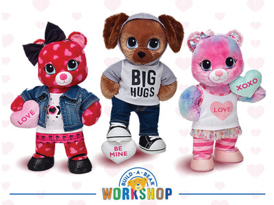 Build-A-Bear Workshop, Inc. has introduced a new collection of scented, make-your-own Sweet Hugs gifts just in time for Valentine's Day. The new Build-A-Bear Workshop Sweet Hugs Heart Bear, Sweet Hugs Swirl Bear and Sweet Hugs Pup have candy-scented fur made possible by Celessence(TM) Technologies.