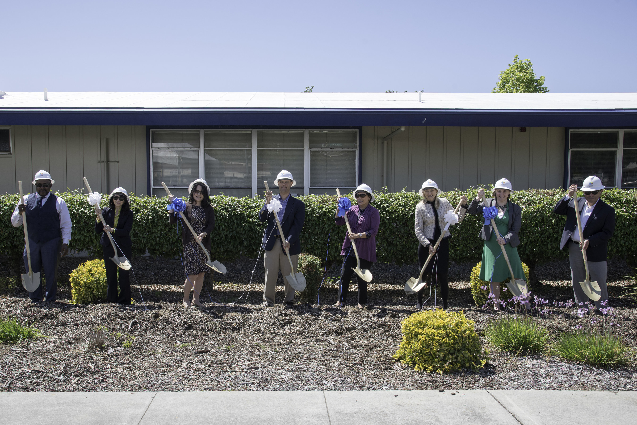 Berryessa Union School District and OpTerra Energy Services team break ground on site of new, district-wide 2.4MW solar program. Photo by Stoney Meagher.