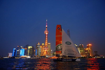 On the river off Shanghai's iconic Bund during CIBS 2015
