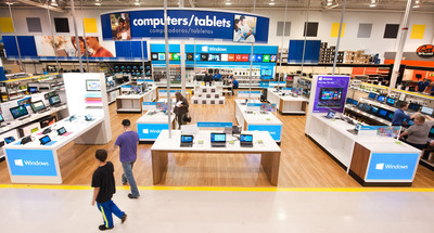 Microsoft and Best Buy announce The Windows Store only at Best Buy. Coming to 600 Best Buy stores in North America this summer.   (PRNewsFoto/Microsoft Corp.)