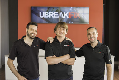uBreakiFix was founded in 2009 by a savvy millennial trio including (L-R): Eddie Trujillo, Justin Wetherill and David Reiff.