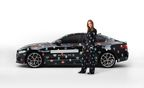 JAGUAR AND STELLA MCCARTNEY BRING THE NEW XE TO PARIS - Stella to dress fleet of Jaguar vehicles in her Spring 2015 Superhero print to mark the next phase in the Jaguar XE reveal at the Paris Motor Show on 2 October