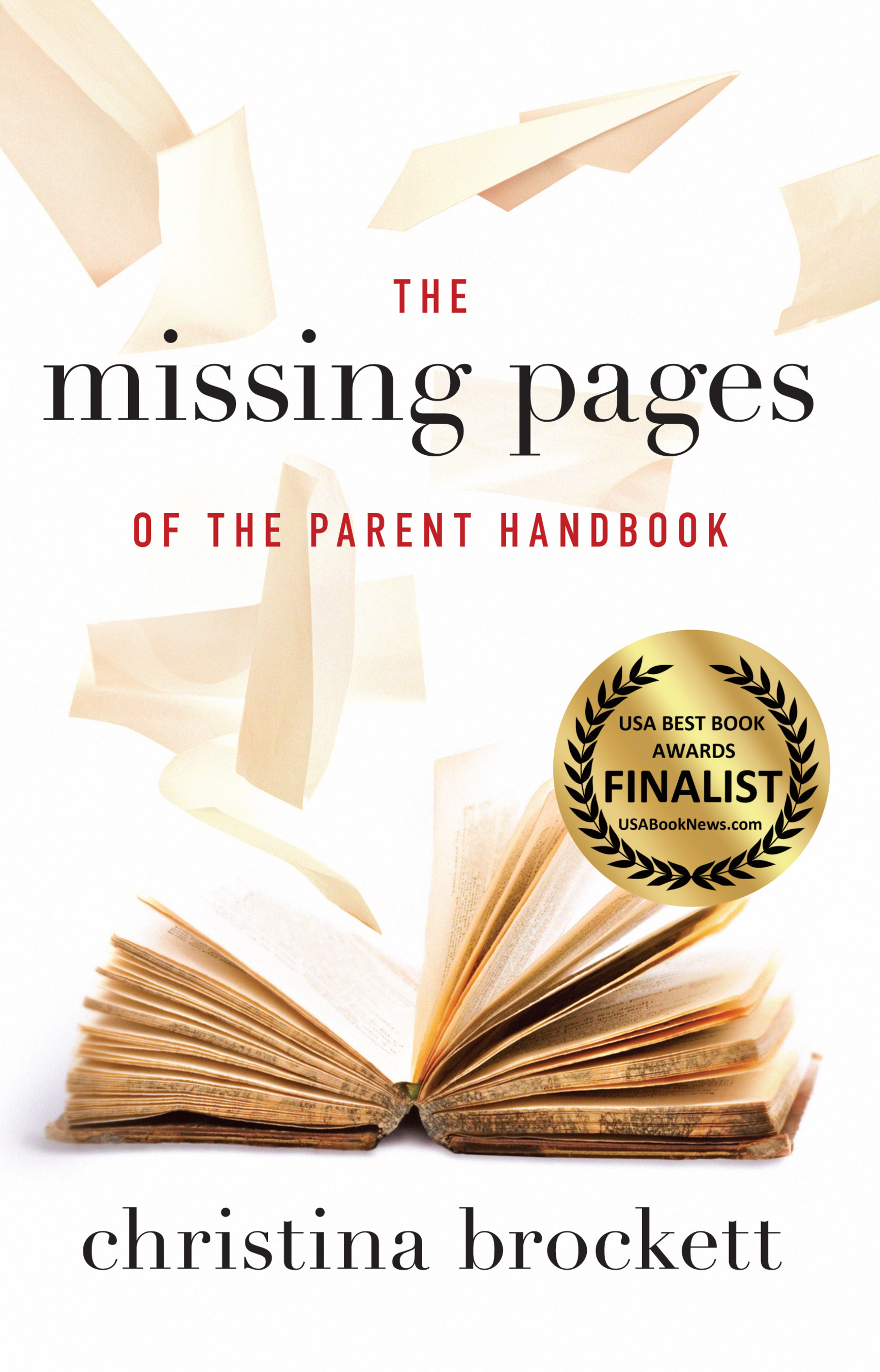 The Missing Pages of the Parent Handbook - book cover (PRNewsFoto/Christina Brockett)