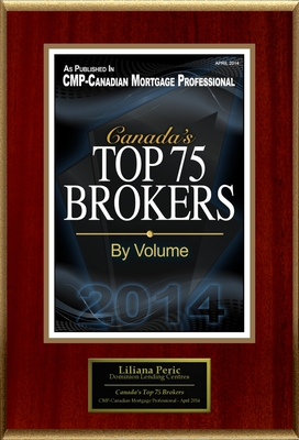 "Liliana Peric Selected For ""Canada's Top 75 Brokers"" (PRNewsFoto/American Registry)"