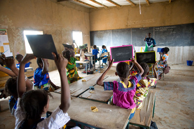 More than 25,000 malnourished and at-risk children in northern Senegal will receive a daily lunch at their rural schools as part of a USDA-supported program implemented by the nonprofit Counterpart International of Arlington, Va. www.Counterpart.org.  (PRNewsFoto/Counterpart International, David Snyder for Counterpart)