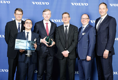Daniel Wirbel (MAHLE), Hamid Boufenzer (Volvo Group), Wolf-Henning Scheider (MAHLE), Patrik Lundblad (Volvo Group), Matthias Fix (MAHLE) and Arnd Franz (MAHLE) (from left to right)