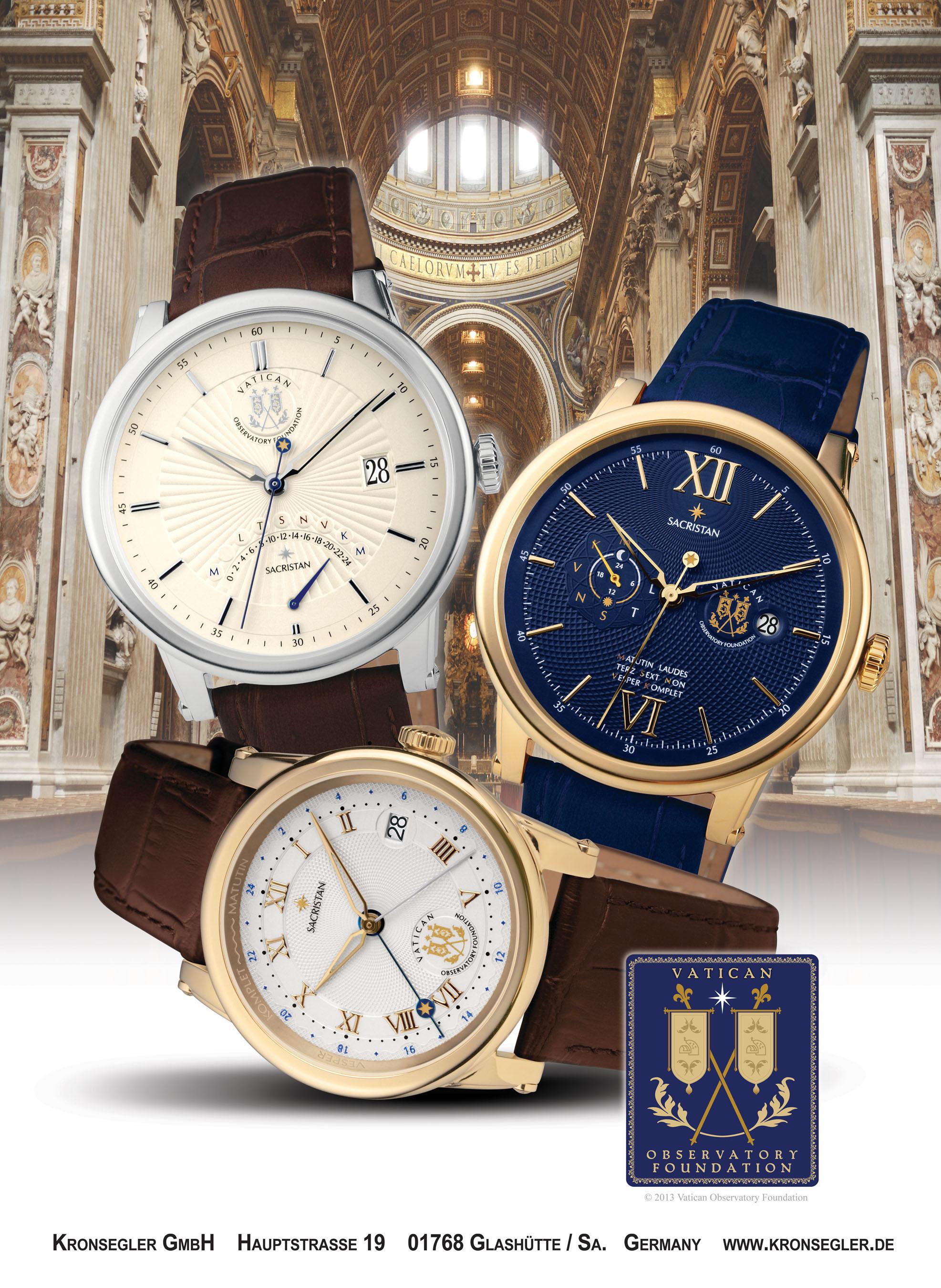 """Sacristan"" watches. (PRNewsFoto/Kronsegler)"