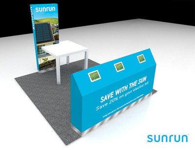 Rendering of Sunrun Interactive Solar Station in Westfield Malls