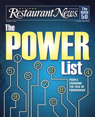 Nation's Restaurant News Debuts Restaurant Industry Power List.  (PRNewsFoto/Penton)