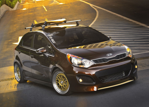 Custom Kia Rio 5-door with radical surf theme to make debut at SEMA.  (PRNewsFoto/Kia Motors America)