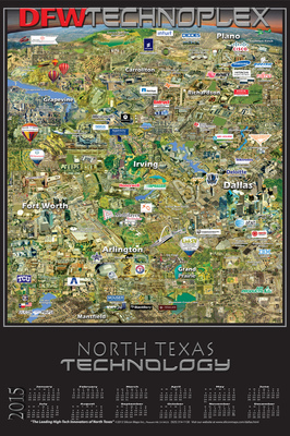 DFW TECHNOPLEX Map Plots the Hotbed of Technology and Innovation in North Texas (PRNewsFoto/Silicon Maps, Inc. )