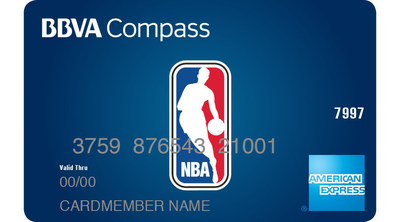 The BBVA Compass NBA American Express Card is the first credit card to bear the global NBA brand.