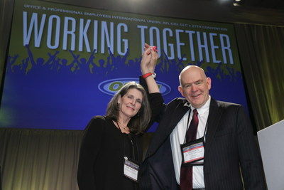 Richard Lanigan is elected president of the Office and Professional Employees International Union (OPEIU), AFL-CIO.  Mary Mahoney is reelected to her third term as secretary-treasurer.