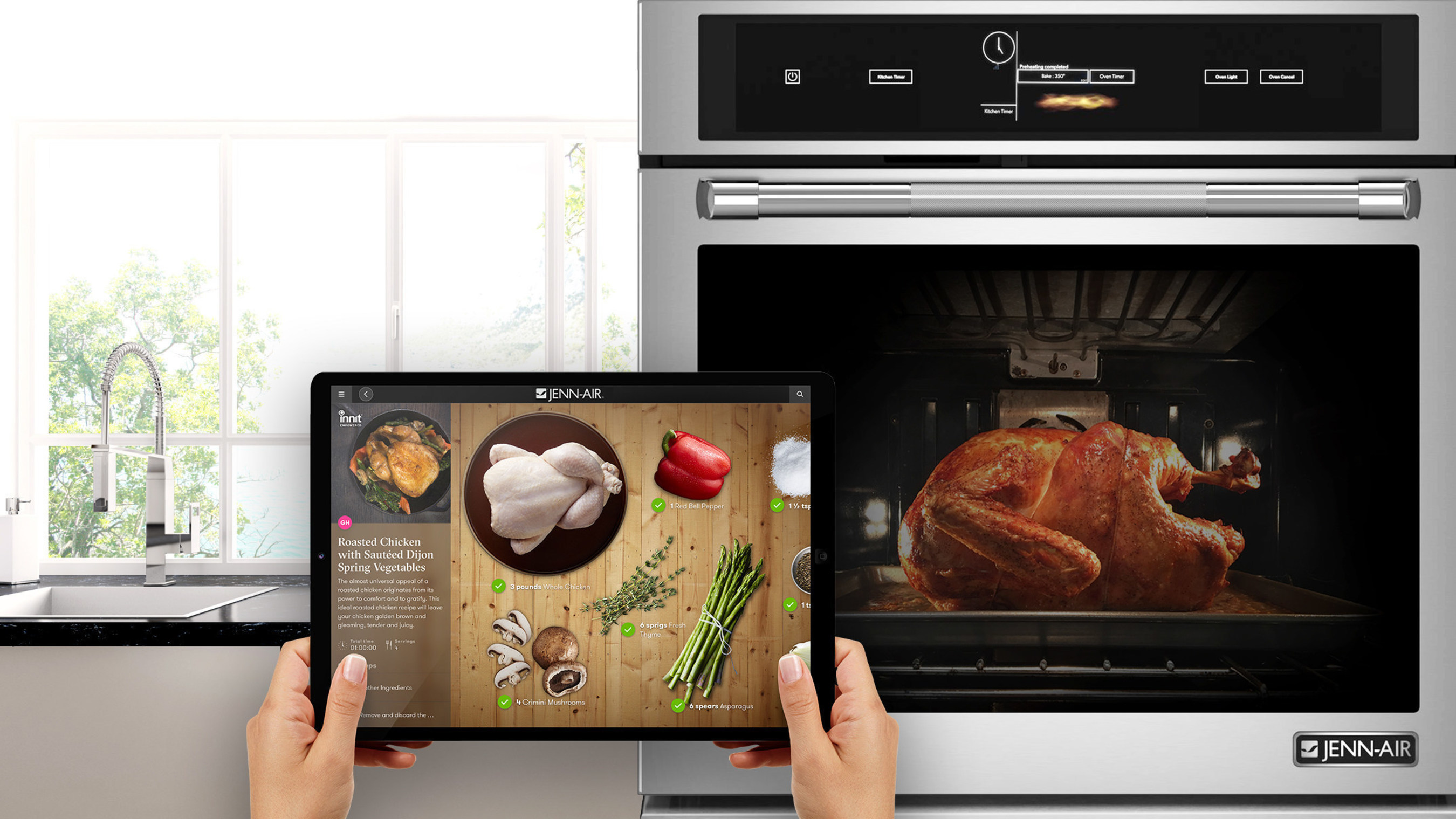Whirlpool Corporation connected cooking appliances, starting with Jenn-Air(R) brand WiFi connected ovens, will ...