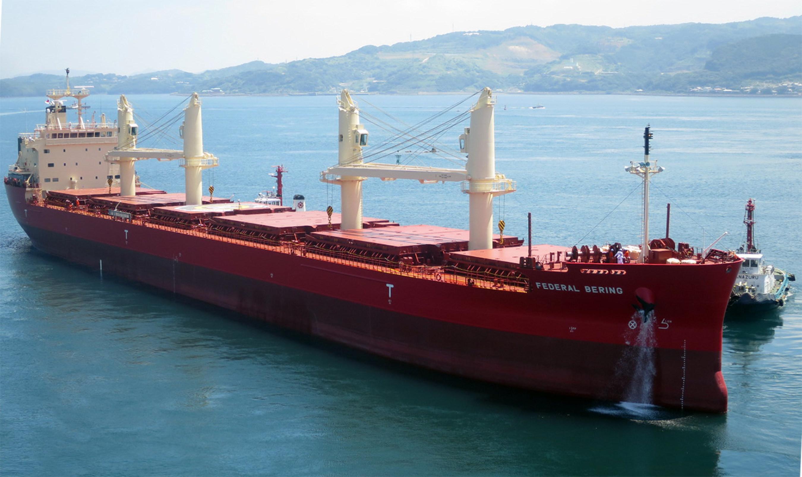 Fednav celebrates arrival of new vessel at Port of Antwerp