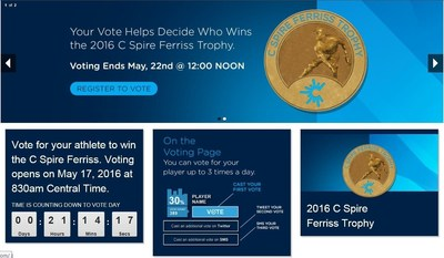 Mississippi baseball fans will get a chance to help decide who will be the 2016 C Spire Ferriss Trophy winner honoring the state's top college baseball player through a special fan voting program at cspoavoting.com.  Fan voting counts for a weighted 10 percent of the total award.