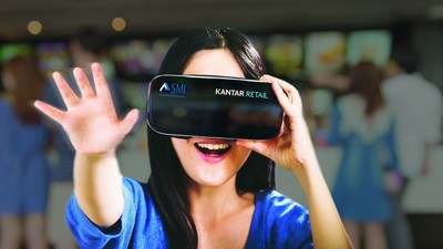 Kantar Retail uses virtual reality with eye tracking from SensoMotoric Instruments to create a virtual shopping experience at Path2Purchase Chicago, September 20-22, 2016. (PRNewsFoto/SensoMotoric Instruments)