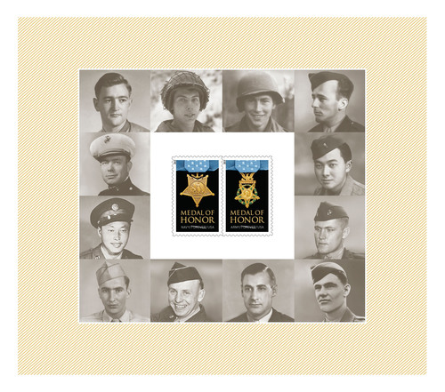 The U.S. Postal Service today dedicated the World War II Medal of Honor Forever stamps - Living Recipients ...