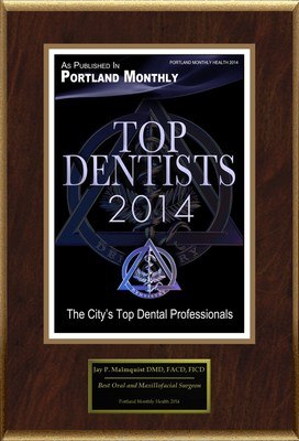 "Jay P. Malmquist Selected For ""Top Dentists 2014"""