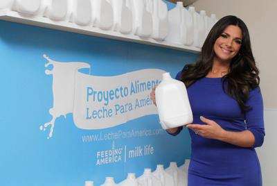 Barbara Bermudo en el lanzamiento del Proyecto Alimento Leche Para America.  (PRNewsFoto/MilkPEP)