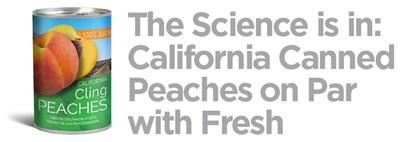 California Cling Peach Board