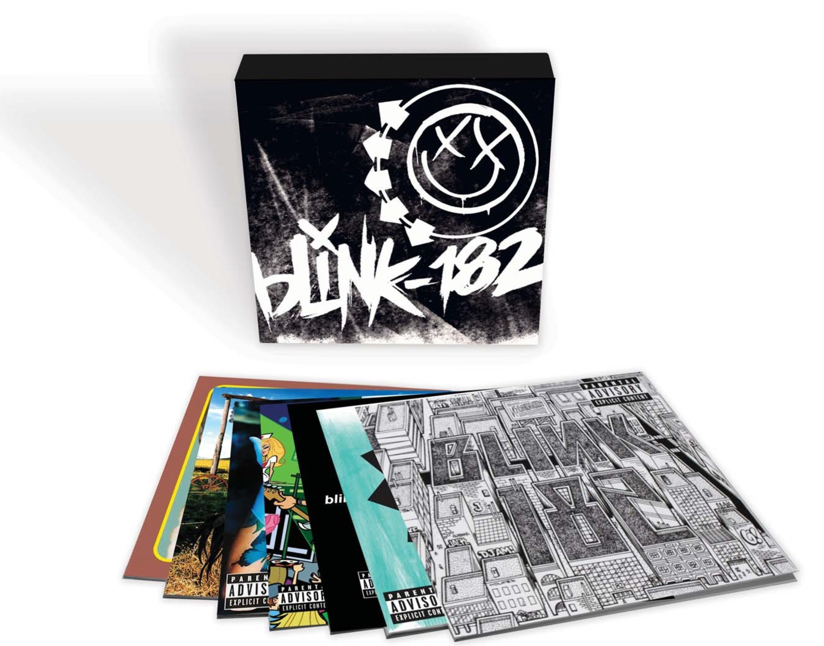 Geffen/UMe will bring Blink-182's entire Universal catalog together for the first time as a limited edition vinyl box set on October 7. The 10-LP collection will include their six studio albums on heavyweight 180-gram vinyl and consist of 1995's 'Cheshire Cat,' 1997's 'Dude Ranch,' 1999's 'Enema Of The State' and 2001's 'Take Off Your Pants And Jacket' on single LPs and 2003's 'blink-182,' 2011's 'Neighborhoods' and their riotous live record, 2000's 'The Mark, Tom & Travis Show: The Enema Strikes Back!'