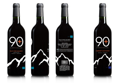 Limited edition 90+ Cellars Andes Mountains wine bottles
