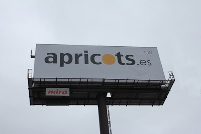 Apricots agrees to remove billboard for duration of the Mobile World Congress in Barcelona (PRNewsFoto/Apricots) (PRNewsFoto/Apricots)