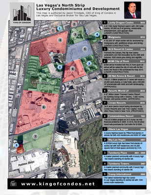 Las Vegas North Strip Luxury Condo And Development Map Released By