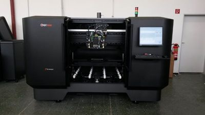 Aachen University has the world's largest multi-material 3D printer from Stratasys, the Objet1000, with the ability to produce parts combining hard and soft materials, all in a single build.