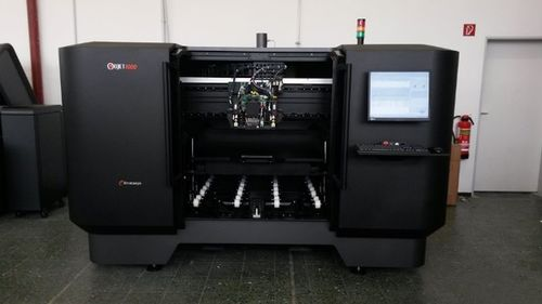 Aachen University has the worldâeuro(TM)s largest multi-material 3D printer from Stratasys, the Objet1000, with the ability to produce parts combining hard and soft materials, all in a single build. (PRNewsFoto/Stratasys Ltd)
